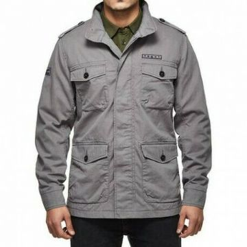 Royal Enfield Classic Field Motorcycle Motorbike Casual Jacket - Grey